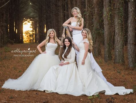 Marriage Wear Dresses by Wear Their Wedding Dresses For Photo