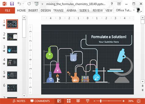 template ppt laboratory free animated chemistry powerpoint template