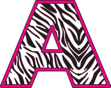 printable zebra print alphabet letters 4 best images of zebra print alphabet letters printable