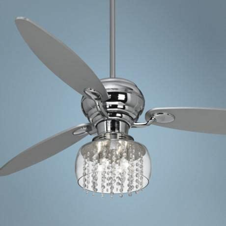 60 quot spyder chrome ceiling fan with chrome light