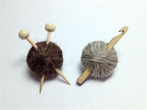 knit and crochet wool knitting crochet brooches