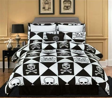 skull bed sets queen horrific finds com my dream home w interior pinterest