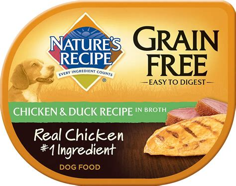 nature s recipe puppy food review nature s recipe grain free chicken duck recipe in broth food 2 75 oz