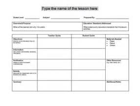 free lesson plan template lesson plan templates microsoft word templates