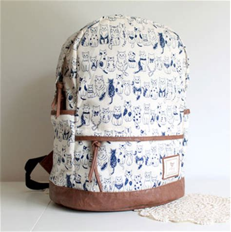 Lovely Cat Backpack By Anfashion lovely sweet leisure cat print backpack on luulla