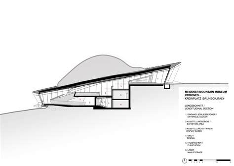 House Plans Split Level gallery of messner mountain museum corones zaha hadid