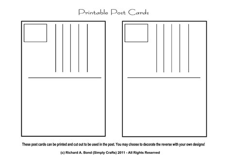 printable postcard template simply crafts may 2011