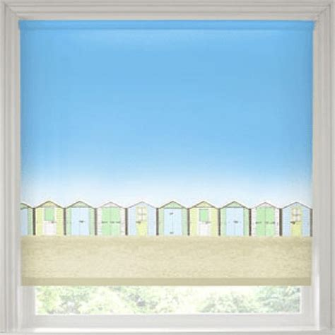 Beach huts roller blind patterned blind kingston blinds direct kingston blinds direct
