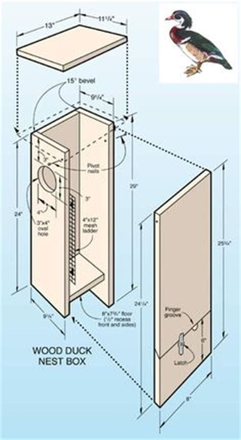 Pattern For Wood Duck Box | wood duck nesting box design lake cabin pinterest