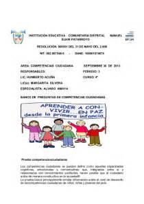 ciudadania mexicana preguntas examen saber competencia ciudadana 3 periodo 1
