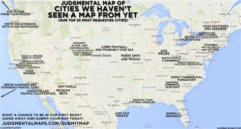 Judgmental Maps Judgmental Map Of Cities We Haven T Seen