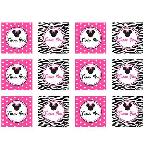 Free Printable Zebra Thank You Tags | minnie mouse zebra thank you tags