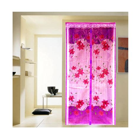Tirai Ungu jual lotusshops bunga exclusive tirai pintu magnet