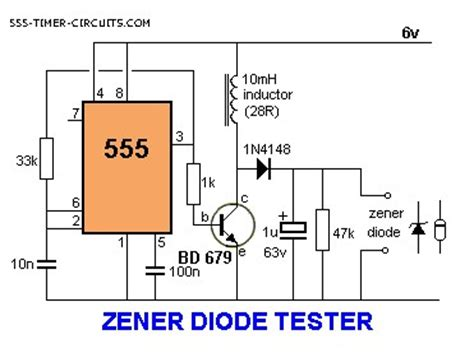 zener diode how to read zener diode tester circuit measuring and test circuit circuit diagram seekic