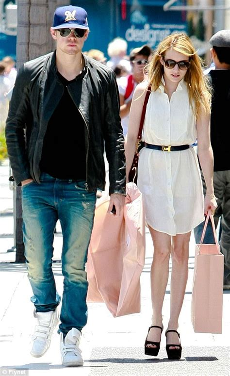 alex pettyfer and emma roberts relationship glee star chord overstreet shopping with new girlfriend