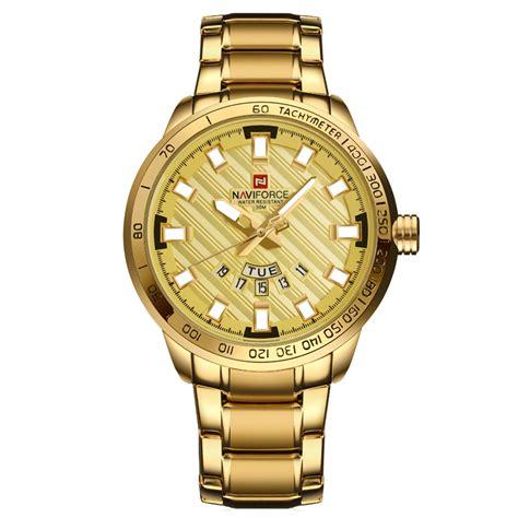 Navi Jam Tangan Analog Digital Pria Cowok Murah Elegan navi jam tangan analog pria 9090 golden