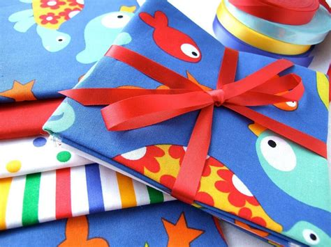 fabric crafts baby baby 100 cotton sea fish seahorse turtle shark