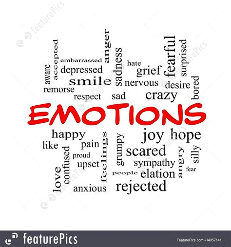 4 Letter Words Depicting Emotions signs and info emotions words stock illustration