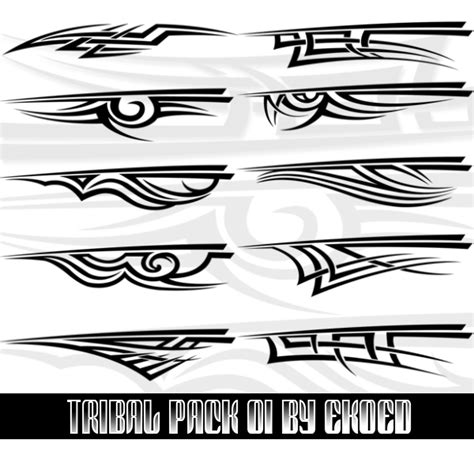 tribal pattern brush photoshop tribal pack 01 by ekoed on deviantart