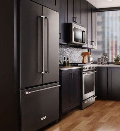 Black Kitchen Cabinets With Stainless Steel Appliances The 25 Best Black Stainless Steel Ideas On Stainless Steel Kitchen Appliances