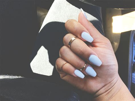 short coffin nails short coffin nails midi rings instagram styleme b n
