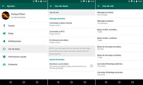 tutorial de uso whatsapp cu 225 ntos datos consume whatsapp