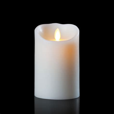 luminara battery operated flameless candle 5 quot ivory