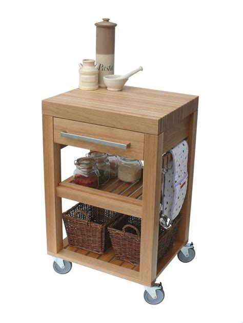 butchers block trolley with drawers kitchen trolley butchers block trolley solid oak