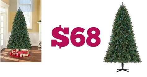 walmart 68 pre lit xmas tree 7 5 ft 291 value