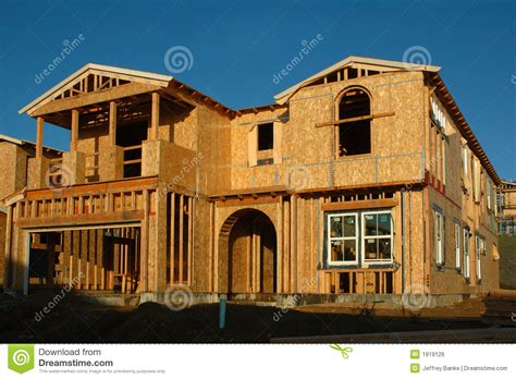 Modern House Under Construction Royalty Free Stock Image