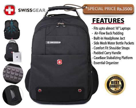 Tas Laptop Swissgear 6101 Black swiss gear backpack sri lanka click backpacks