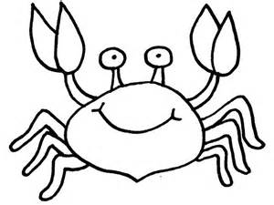 Crab Colouring Page  Coloring Pages sketch template