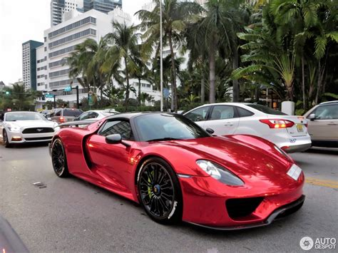 chrome porsche porsche 918 spyder with weissach package flaunts chrome