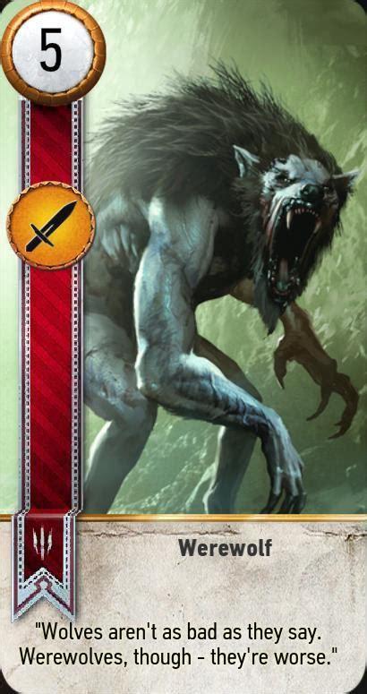 wild hunt witcher 3 werewolf werewolf gwent card the witcher 3 wiki