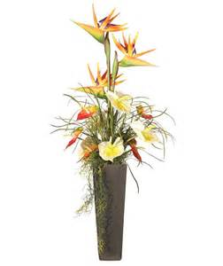 Artificial Orchid In Vase Beautiful Artificial Silk Flowers Arrangements For Home