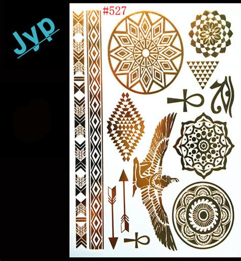 henna tattoo in egypt aliexpress buy 2016 new gold temporary