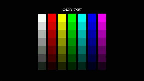 color test columns color test screen for testing hd 1080