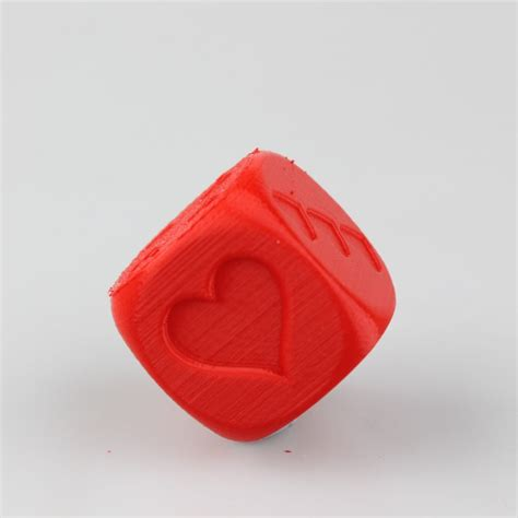 printable love dice 3d printable love dice by devi prasanna rout