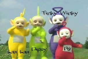 teletubbies names and colors and genders teletubby