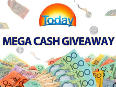 Mega Cash Giveaway Today Show - i wake up with today show block of cash competition code word win 50 000 jackpot