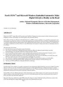 Fiat Elink Read Ford S Sync Microsoft Center