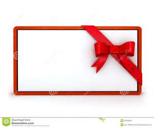 3d gift card with ribbon stock photos image 33409433
