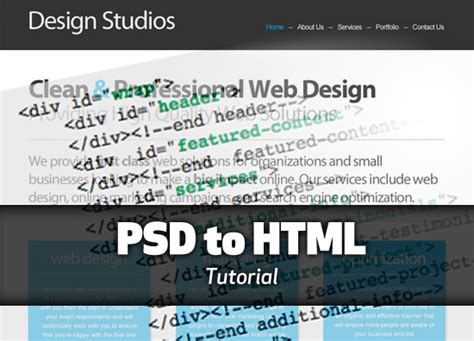 tutorial website coding tutorial converting your psd to html css the graphic mac