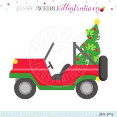 christmas jeep clip stack of sprinkled donuts digital clipart jw