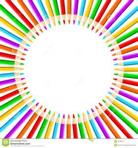 artist colored pencils circle of colored pencils stock vector image of space