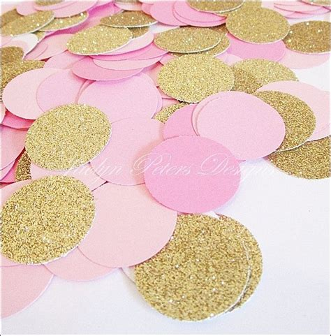 pink and gold baby shower table decorations party confetti pink and gold glitter girls baby shower