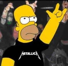 imagenes homero rockero metallica megadeth anthrax and slayer the big four