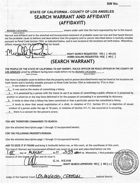 Affidavit For Search Warrant Exle Exle Of A Search Warrant Search Engine At Search