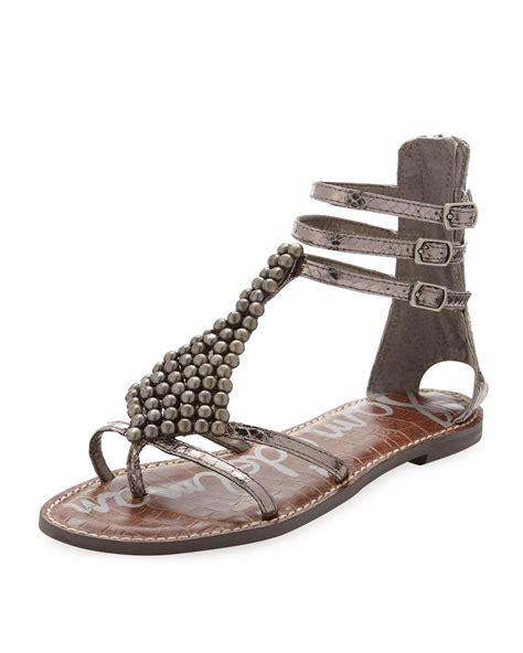 sam edelman sandal sam edelman gladiator sandal in gray pewter lyst