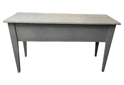 Zinc Top Console Table Industrial Zinc Top Console Table Chairish